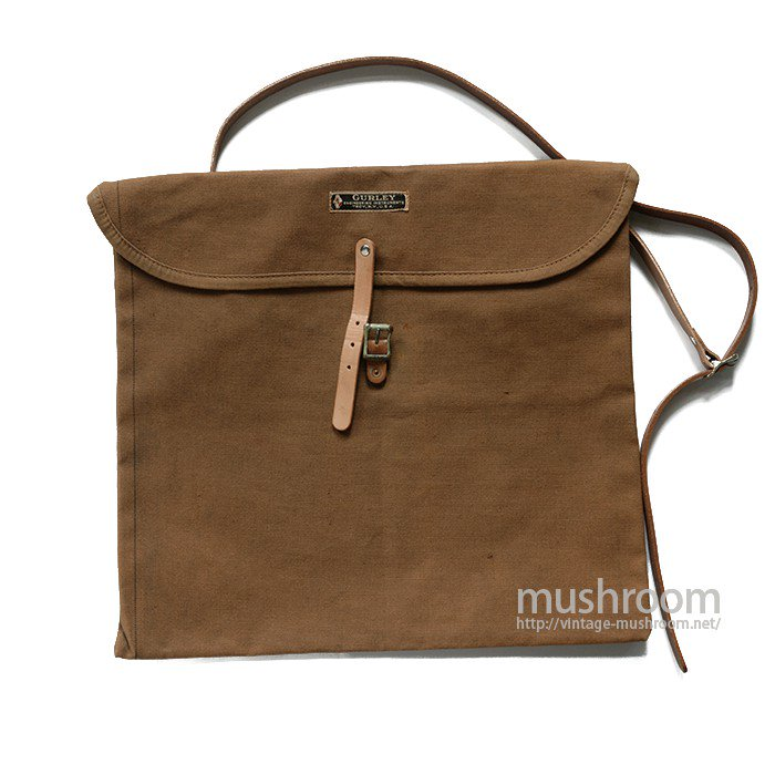 GURLEY ENGINEERING INSTRUMENTS BROWN CANVAS SHOULDER BAG( MINT )