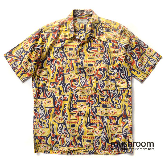 SKIPPER PRINT COTTON  SHORT-SLEEVE BOX SHIRT