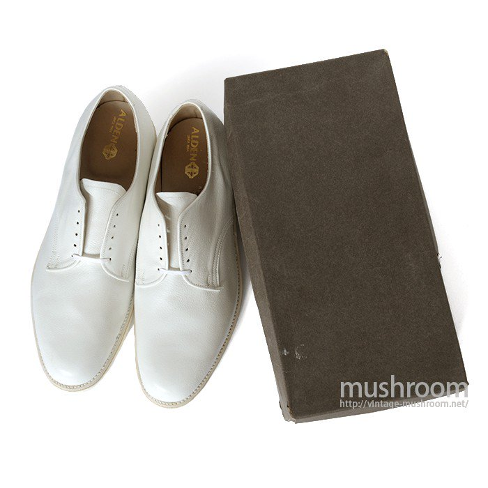 OLD ALDEN WHITE GRAIN LEATHER OXFORD SHOES( DEADSTOCK )