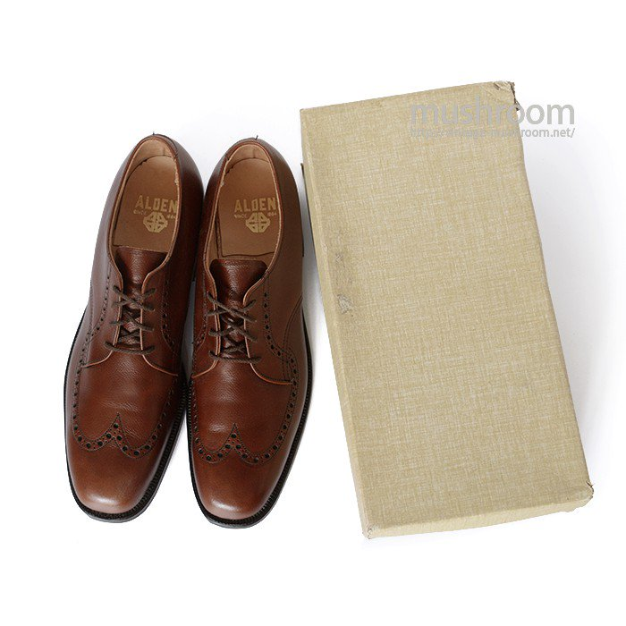 OLD ALDEN 459 WING-TIP LEATHER SHOES( 10A/DEADSTOCK )