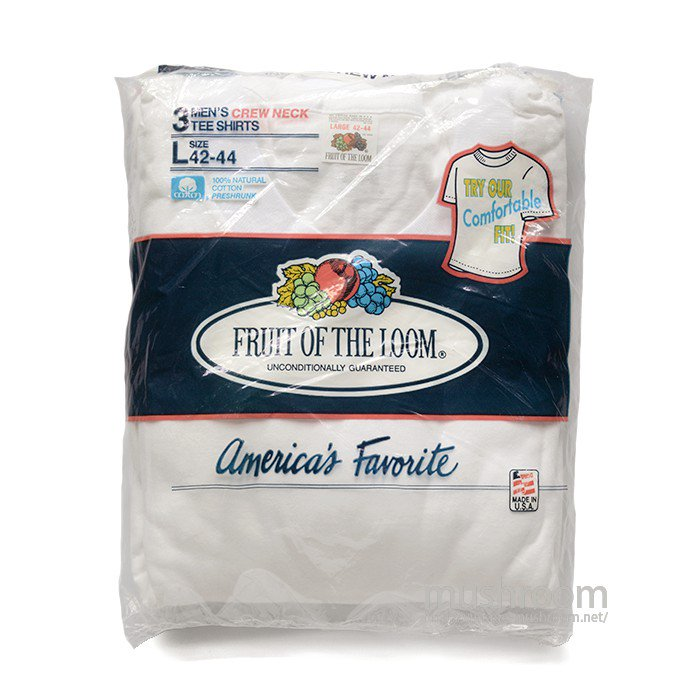 FRUIT OF THE LOOM 3PACK BLANK T-SHIRT( L/DEADSTOCK )