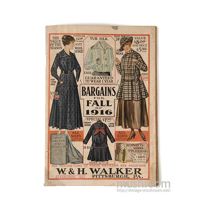 W.&H.WALKER BARGAINS FOR FALL OF 1916 CATALOG