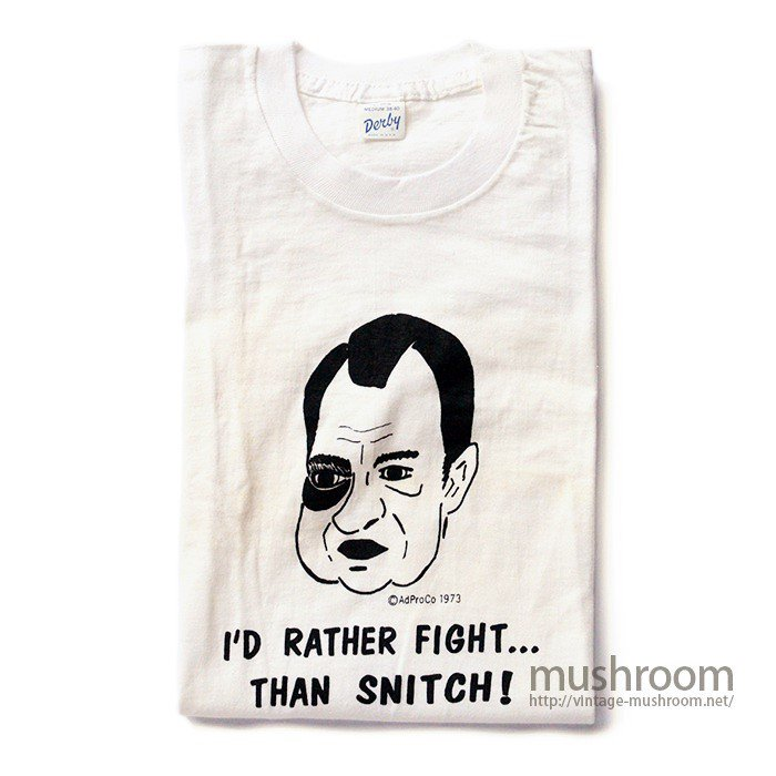 RICHARD NIXON T-SHIRT( M/DEADSTOCK )