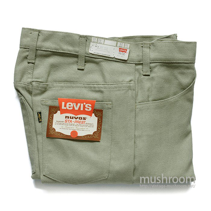LEVI'S 647-4431 STA-PREST TAPERED PANTS( W30/DEADSTOCK )