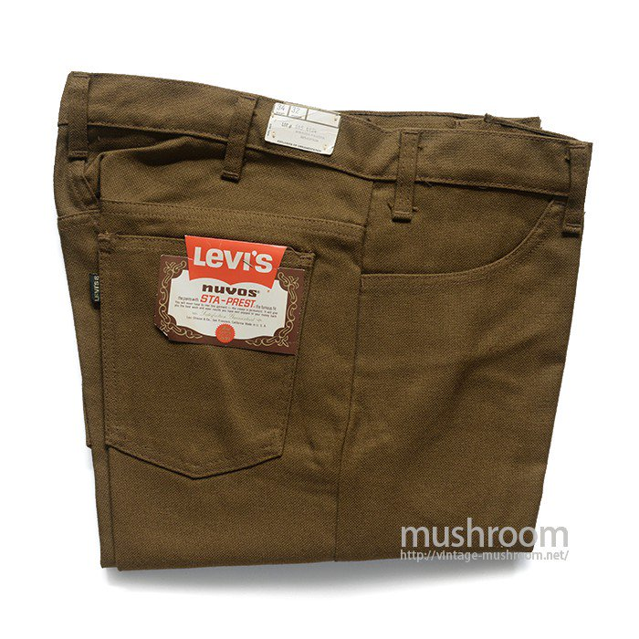 LEVI'S 645-4424 STA-PREST TAPERED PANTS( W34/DEADSTOCK )