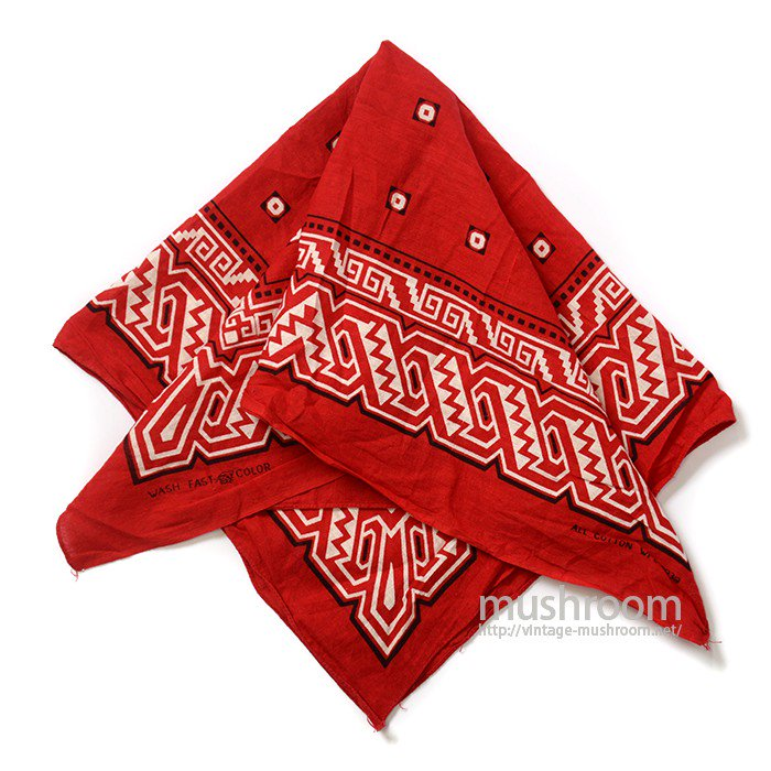 OLD COTTON BANDANA( TIGER/DEADSTOCK )
