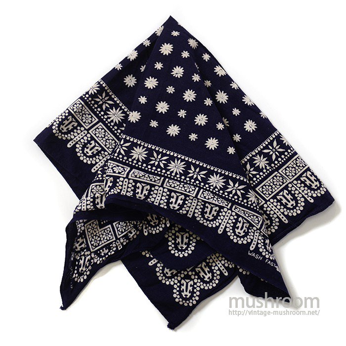 OLD COTTON BANDANA( TIGER/ONE-WASHED )