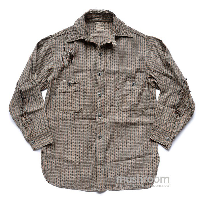 BIG MAC JUNIOR COTTON WORK SHIRT WITH CHINSTRAP