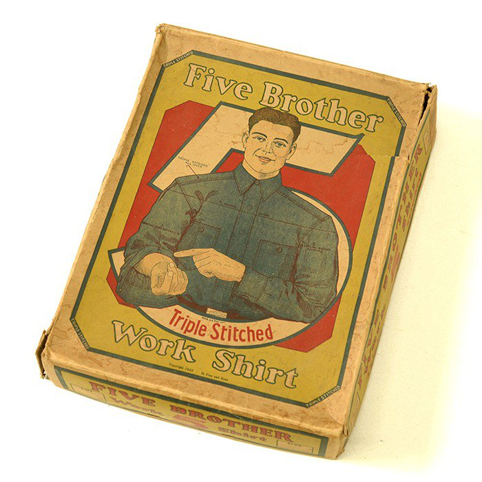 Five Brother Work shirt Paper box