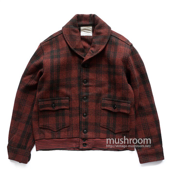 CCC A-1 STYLE PLAID WOOL JACKET(42/DEADSTOCK)