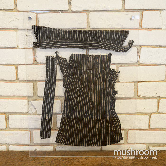 BLACK WABASH STRIPE WORK SHIRT SCRAP