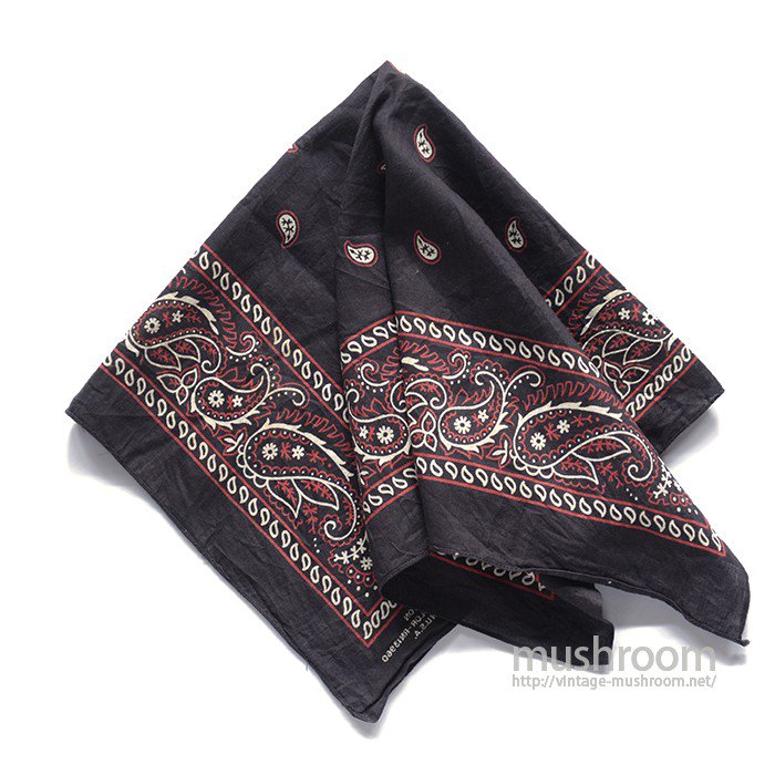 OLD BLACK COTTON BANDANA( DEADSTOCK )