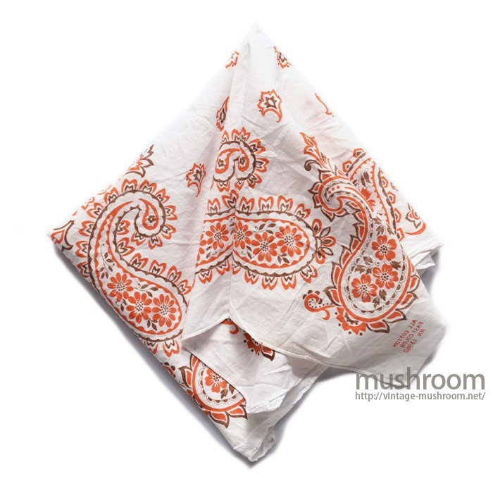 OLD WHITE COTTON BANDANA( ONE-WASHED )