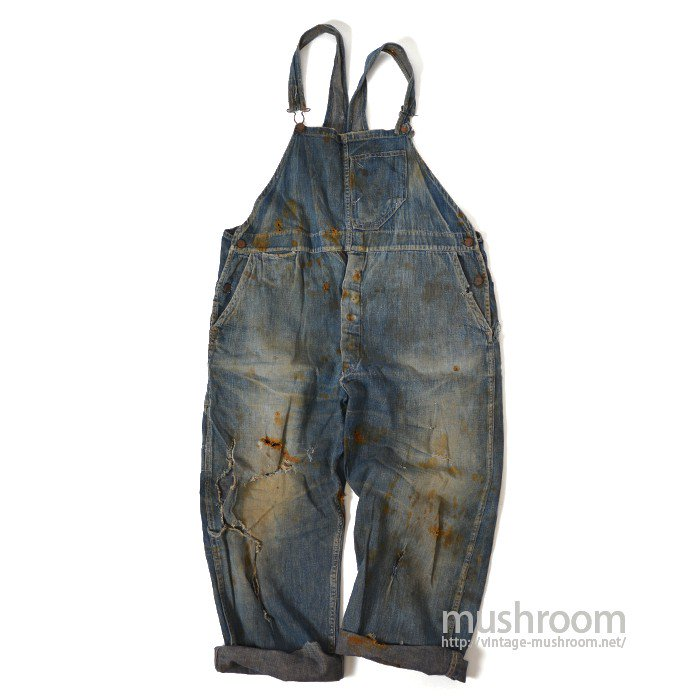 SENSIBLE DENIM OVERALLS( UNUSUAL POCKET )