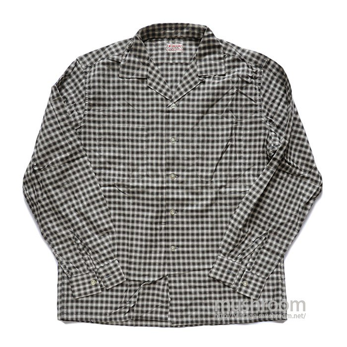 MCGREGOR PLAID COTTON LONG-SLEEVE SHIRT( ML/DEADSTOCK )
