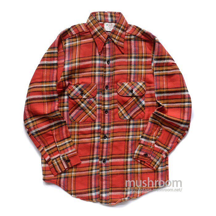 5BROTHER PLAID FLANNEL SHIRT( DEADSTOCK )