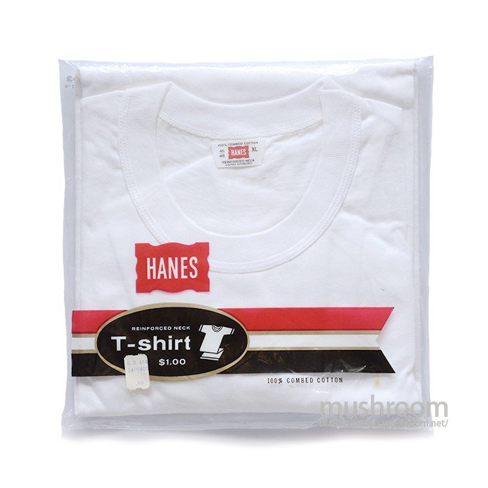 HANES WHITE COTTON T-SHIRT( XL/DEADSTOCK )