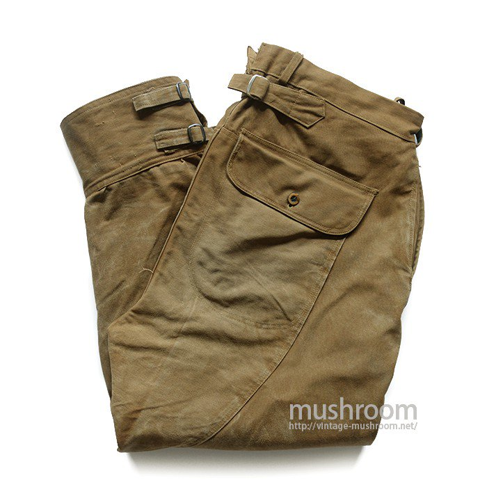 DUXBAK BROWN DUCK HUNTING PANTS WITH BUCKLEBACK