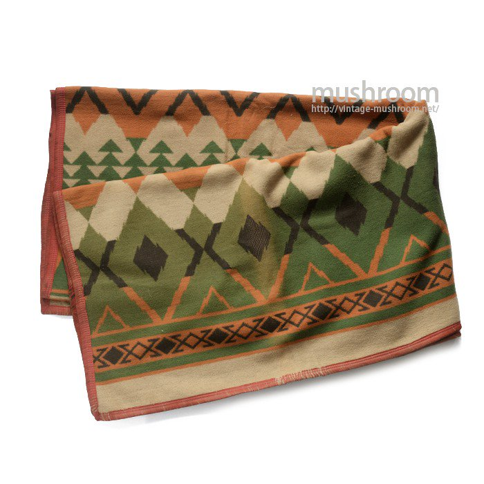 BEACON NATIVE-PATTERN COTTON BLANKET( DEADSTOCK )