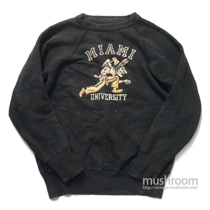 OLD COLOR FLOCK PRINT SWEAT SHIRT( BLACK )
