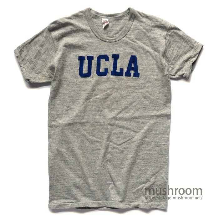 UCLA FLOCK PRINT T-SHIRT( MINT/ONE-WASHED )