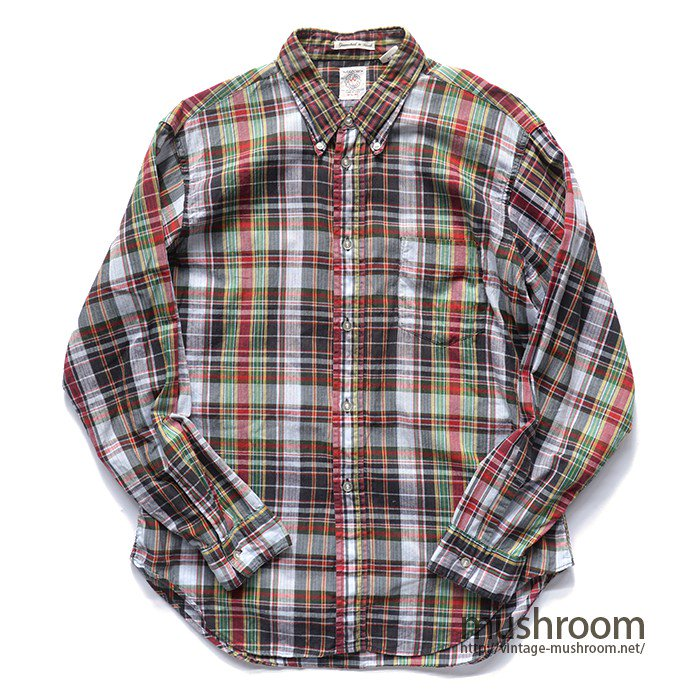 ARROW MADRAS PLAID  L/S BD SHIRT( MINT )