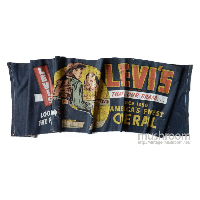 LEVI'S STORE DISPLAY DENIM BANNER