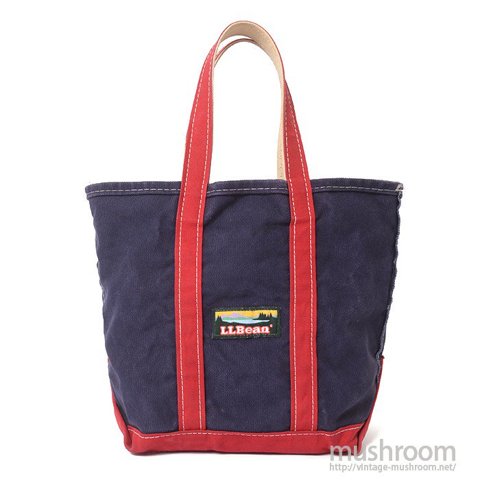 L.L.BEAN TOTE BAG( NAVY BLUE&RED  )