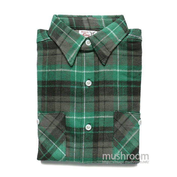 WINTER KING PLAID FLANNEL SHIRT( 15 1/2/DEADSTOCK )