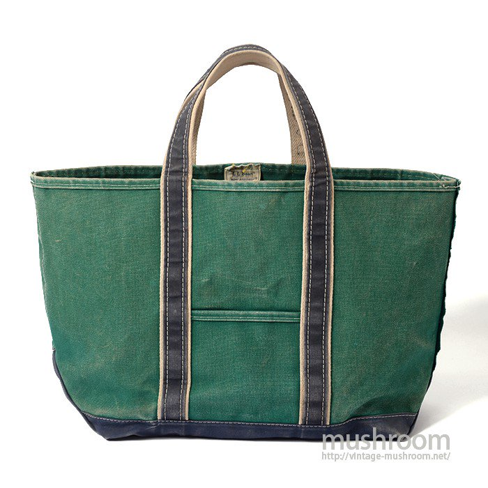 L.L.BEAN DELUXE TOTE BAG( GREEN/NAVY )