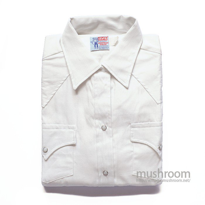 LEVI'S SADDLE MAN COTTON WESTERN SHIRT( DEADSTOCK )