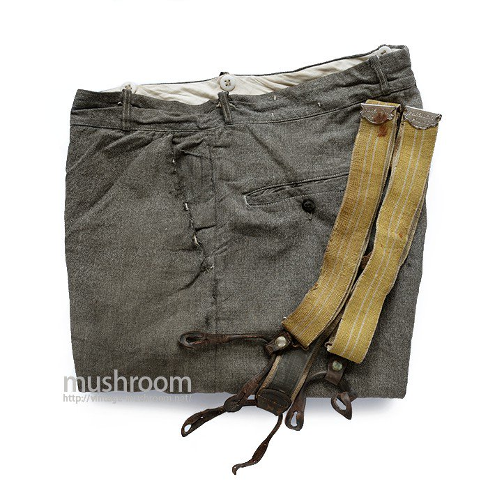 OLD BLACK CHAMBRAY WORK TROUSER