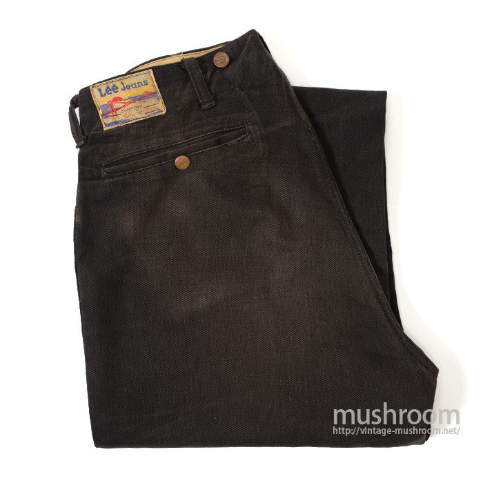 Lee 721 BLACK COTTON TWILL WORK TROUSERS