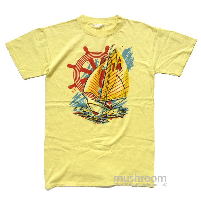 OLD YACHT PRINT T-SHIRT( MINT )