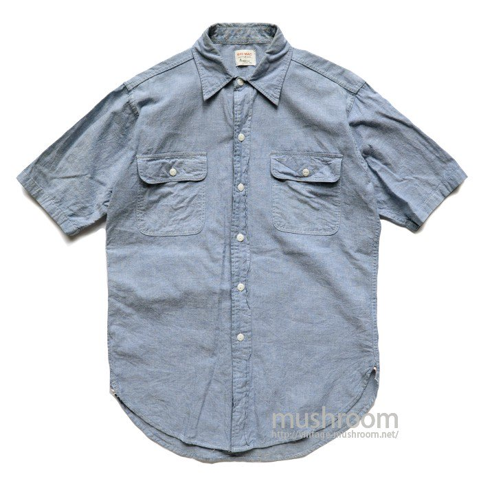 BIG MAC SHORT-SLEEVE CHAMBRAY SHIRT( MINT )