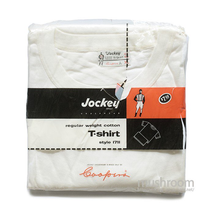 JOCKY WHITE COTTON T-SHIRT(XL/DEADSTOCK )