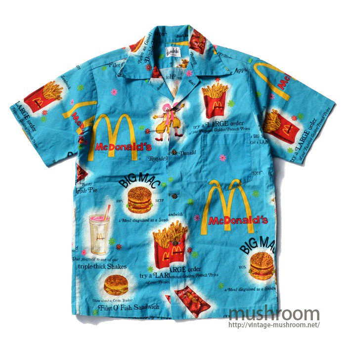 MCDONALD'S SHORT SLEEVE HAWAIIAN SHIRT