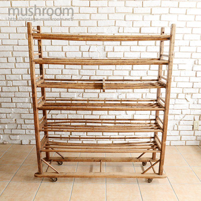 INDUSRIAL SHOE FACTORY WOOD RACK