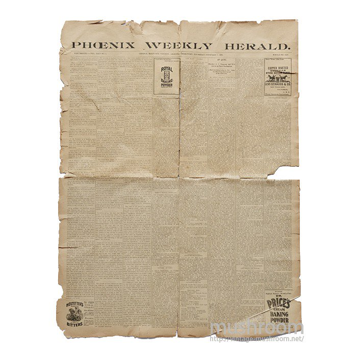 LEVI'S NEWSPAPER ADVERTISEMENT( FEB.3.1898 )