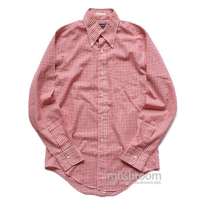 GANT GINGHAM CHECK LONG SLEEVE BD SHIRT( 14 1/2/MINT )