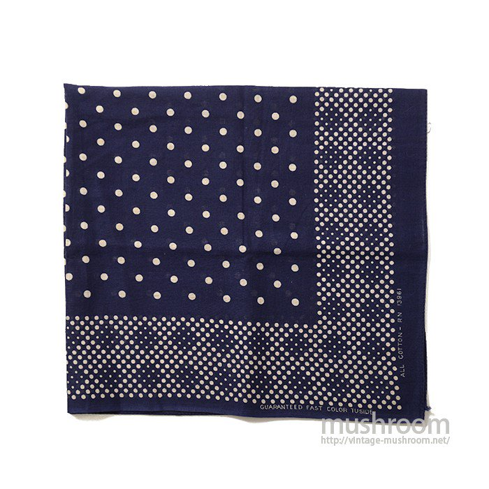 OLD TUSIDE POLKA DOT BANDANA( DEADSTOCK )