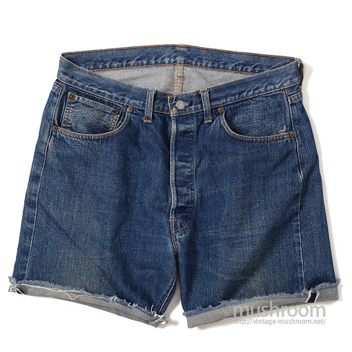 LEVI'S 501 BIGE CUT OFF JEANS