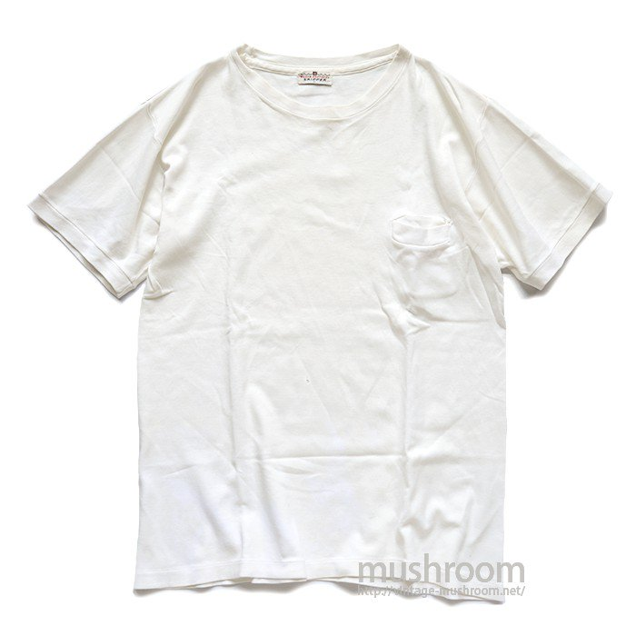 WILSON BROS WHITE POCKET T-SHIRT