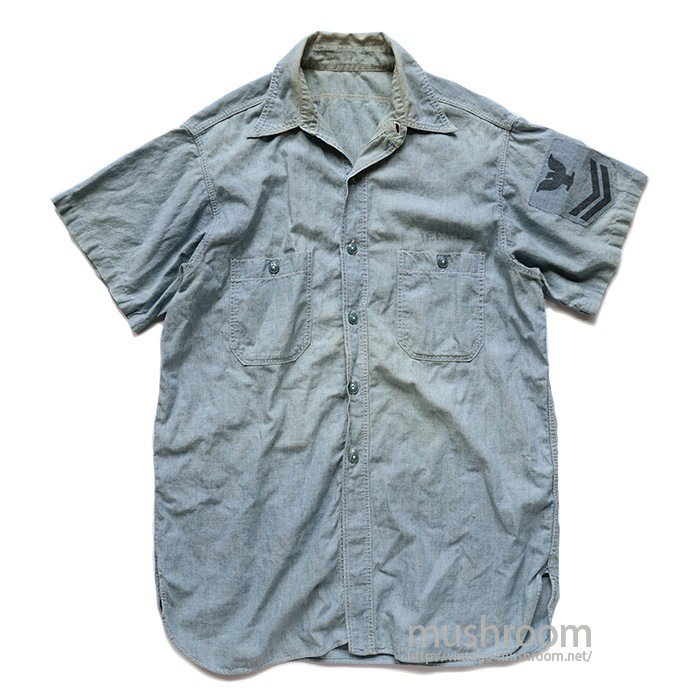 U.S.NAVY SHORT-SLEEVE CHAMBRAY SHIRT