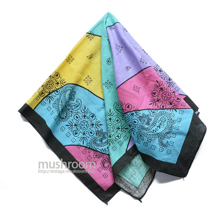 OLD MULTI COLOR BANDANA( DEADSTOCK )