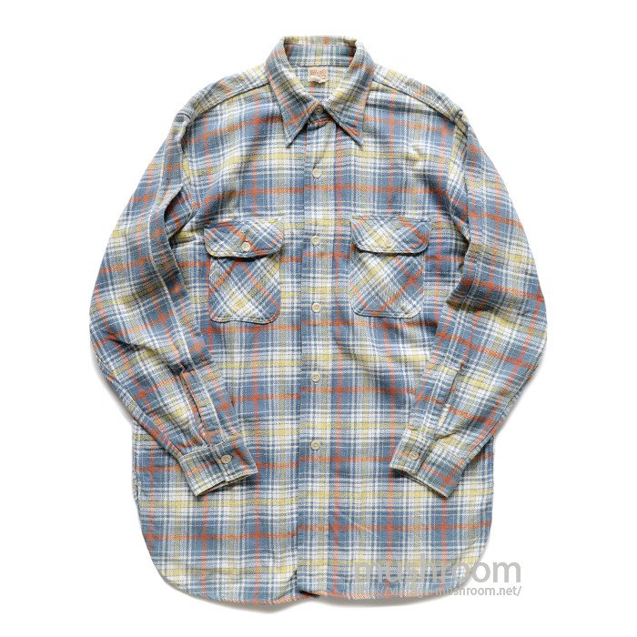 5BROTHER PLAID FLANNEL SHIRT( MINT )