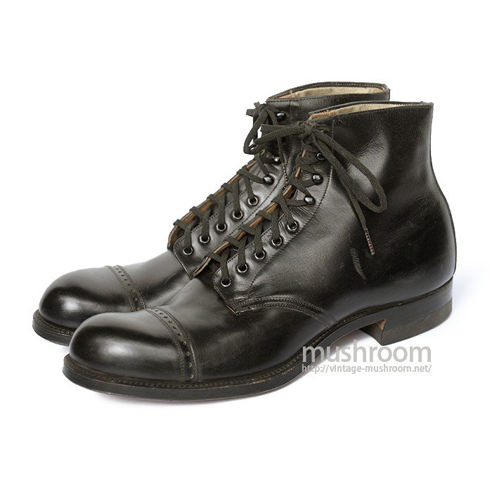 WW1 U.S.NAVY LEATHER BOOTS( 8C/DEADSTOCK )