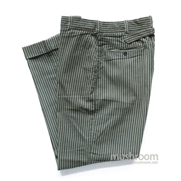 OLD STRIPE CORDUROY TROUSERS( GRAY&BLACK/MINT)