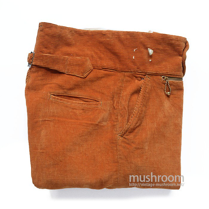 OLD CORDUROY WORK TROUSERS WITH BUCKLEBACK