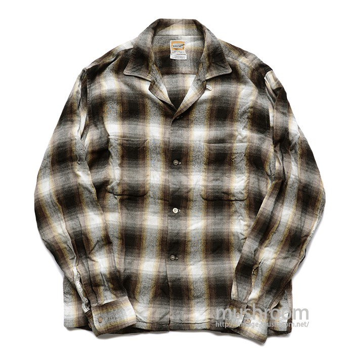 BRENT PLAID RAYON BOX SHIRT
